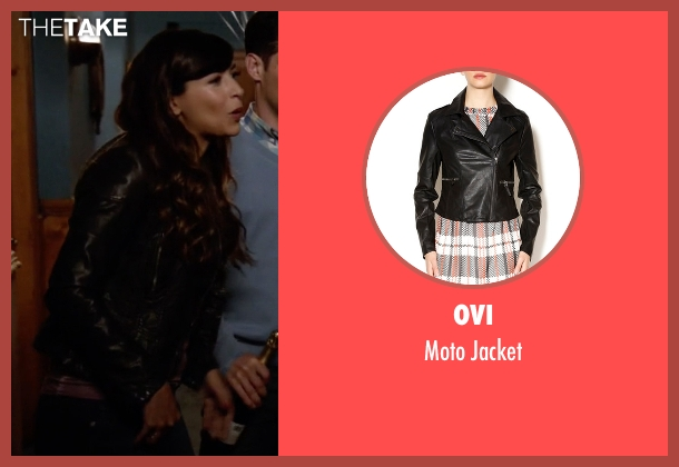 Ovi black jacket from New Girl seen with Cece Parekh (Hannah Simone)