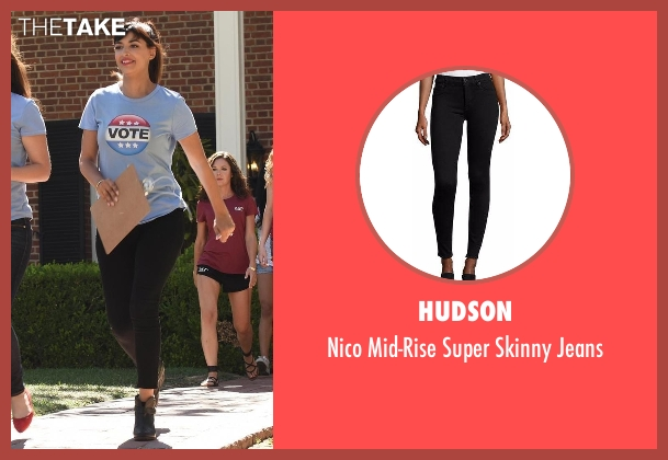 Hudson black jeans from New Girl seen with Cece Parekh (Hannah Simone)