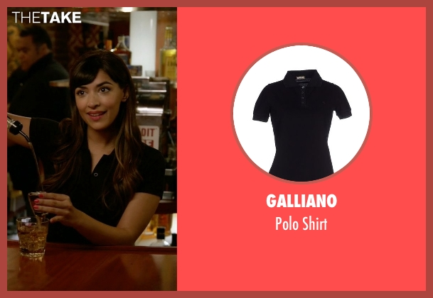 Galliano black shirt from New Girl seen with Cece Parekh (Hannah Simone)