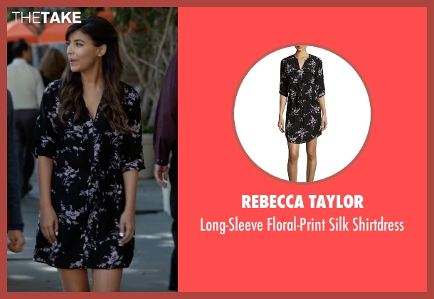 Rebecca Taylor black shirtdress from New Girl seen with Cece Parekh (Hannah Simone)