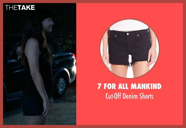 7 For All Mankind black shorts from New Girl seen with Cece Parekh (Hannah Simone)