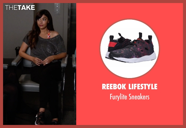 Reebok Lifestyle black sneakers from New Girl seen with Cece Parekh (Hannah Simone)