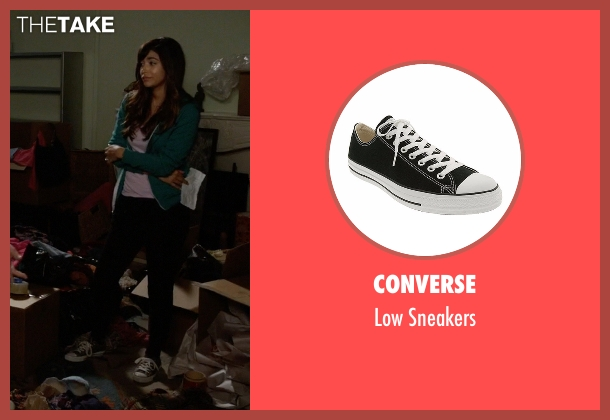 Converse black sneakers from New Girl seen with Cece Parekh (Hannah Simone)