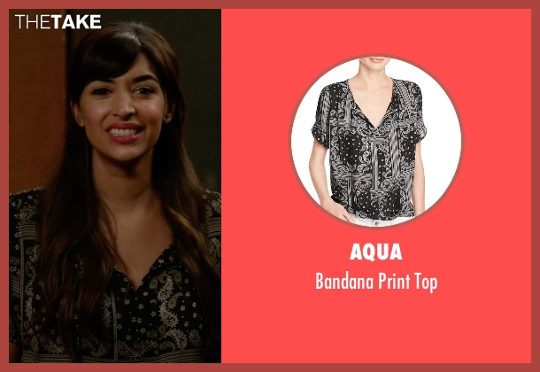 Aqua black top from New Girl seen with Cece Parekh (Hannah Simone)