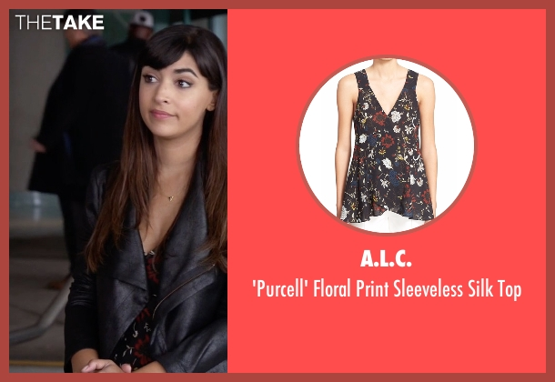 A.L.C.  black top from New Girl seen with Cece Parekh (Hannah Simone)