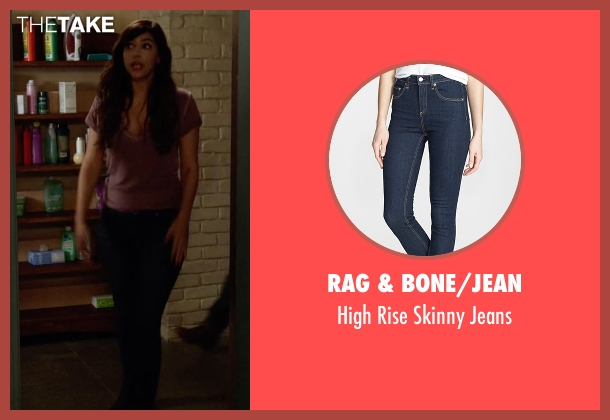 Rag & Bone/Jean blue jeans from New Girl seen with Cece Parekh (Hannah Simone)