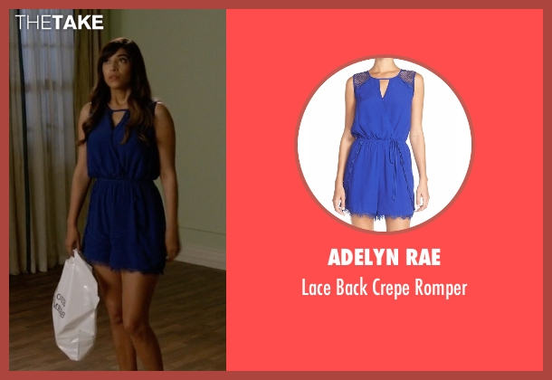 Adelyn Rae blue romper from New Girl seen with Cece Parekh (Hannah Simone)