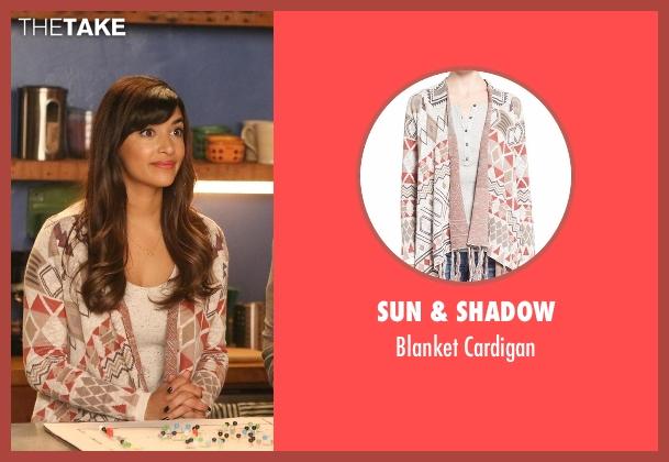 Sun & Shadow cardigan from New Girl seen with Cece Parekh (Hannah Simone)
