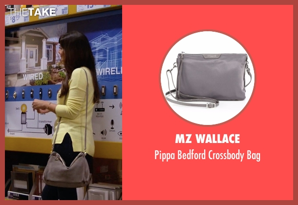 MZ Wallace gray bag from New Girl seen with Cece Parekh (Hannah Simone)