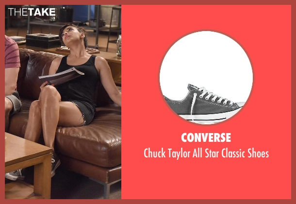 Converse gray shoes from New Girl seen with Cece Parekh (Hannah Simone)