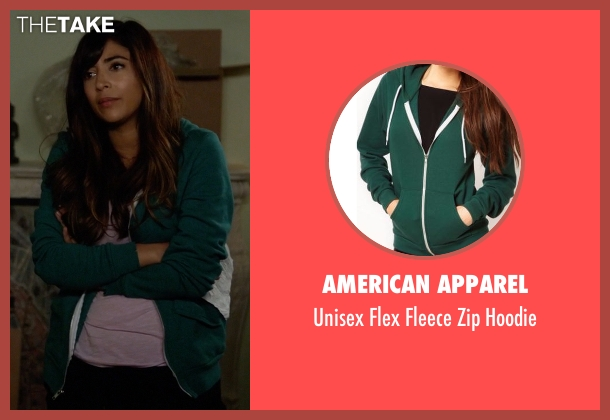 American Apparel green hoodie from New Girl seen with Cece Parekh (Hannah Simone)