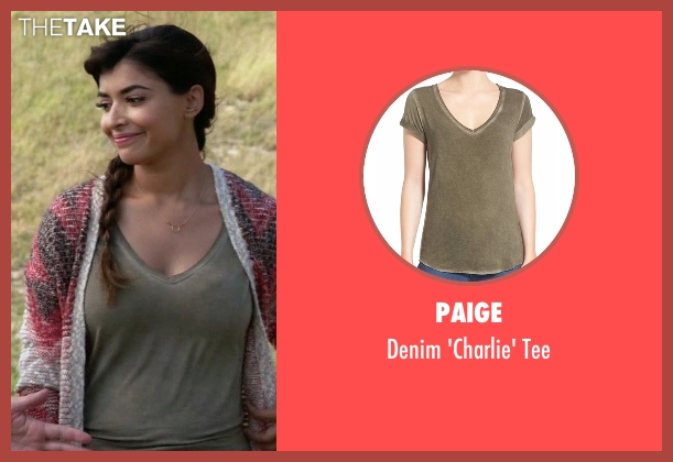 Paige green tee from New Girl seen with Cece Parekh (Hannah Simone)