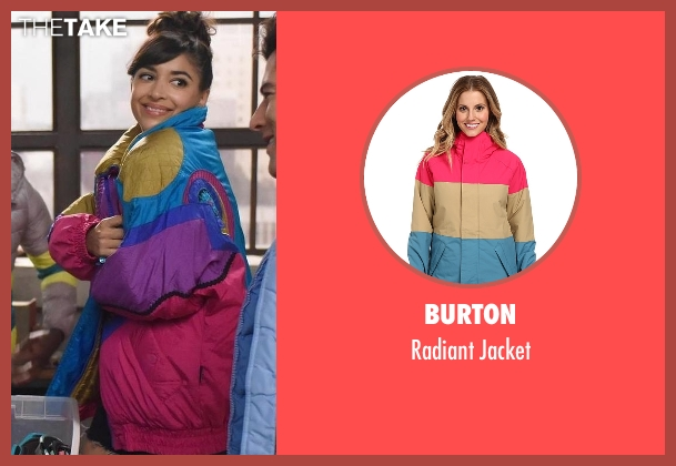 Burton jacket from New Girl seen with Cece Parekh (Hannah Simone)