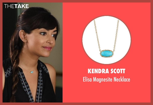 Kendra Scott necklace from New Girl seen with Cece Parekh (Hannah Simone)