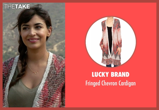 Lucky Brand red cardigan from New Girl seen with Cece Parekh (Hannah Simone)