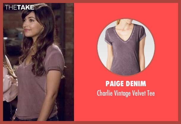 Paige Denim red tee from New Girl seen with Cece Parekh (Hannah Simone)