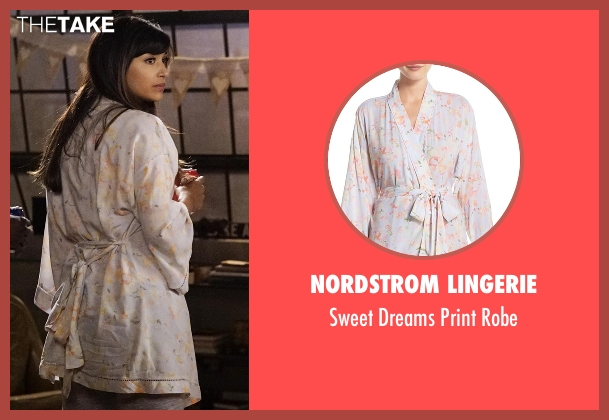 Nordstrom Lingerie robe from New Girl seen with Cece Parekh (Hannah Simone)