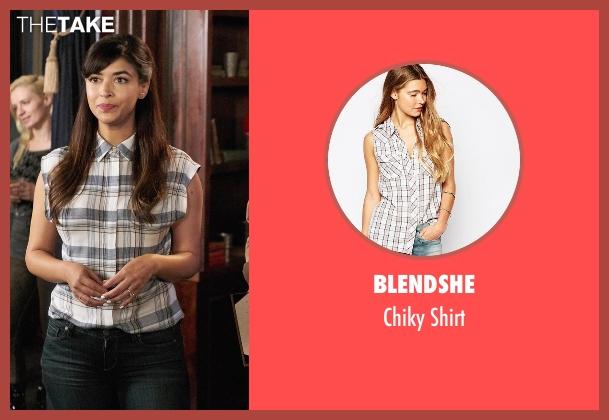 BlendShe  shirt from New Girl seen with Cece Parekh (Hannah Simone)