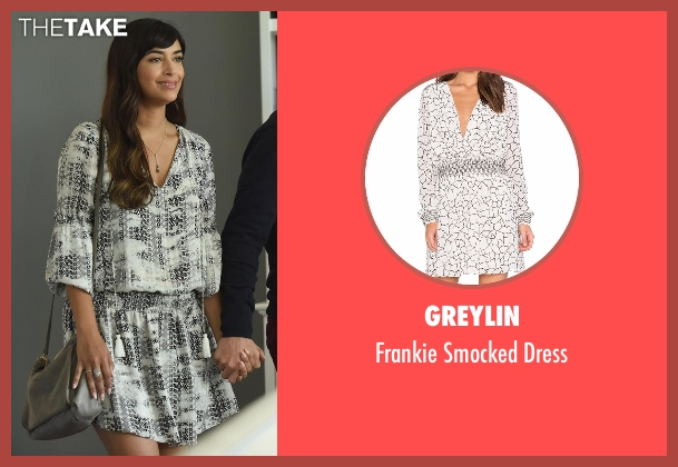 Parker white dress from New Girl seen with Cece Parekh (Hannah Simone)