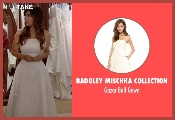 Badgley Mischka Collection  white gown from New Girl seen with Cece Parekh (Hannah Simone)