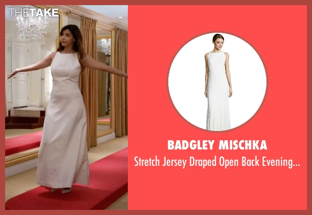 Badgley Mischka white gown from New Girl seen with Cece Parekh (Hannah Simone)