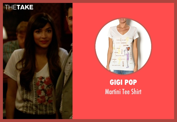 Gigi Pop white shirt from New Girl seen with Cece Parekh (Hannah Simone)