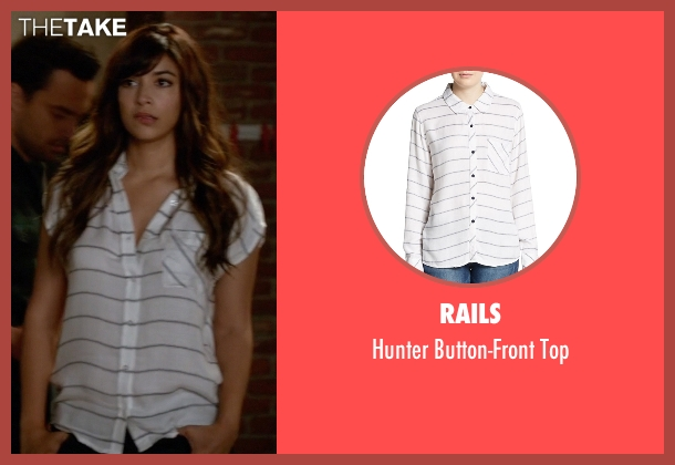 Rails white top from New Girl seen with Cece Parekh (Hannah Simone)