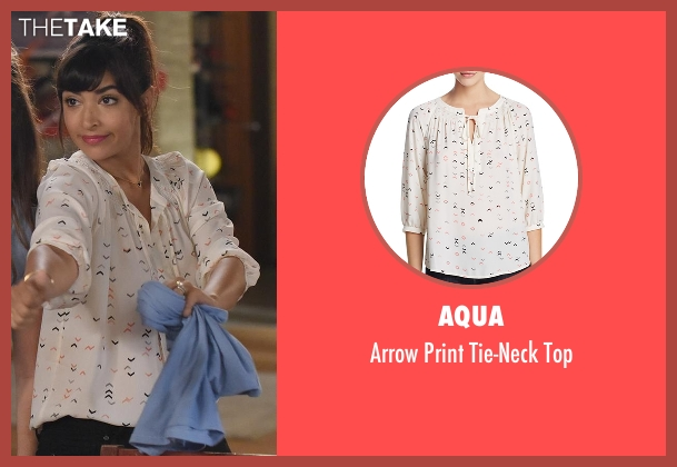 Aqua white top from New Girl seen with Cece Parekh (Hannah Simone)