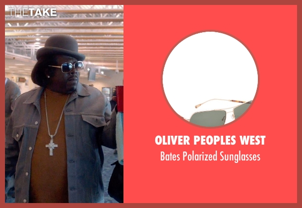 Oliver Peoples West gold sunglasses from Top Five seen with Cedric The Entertainer (Jazzy Dee)