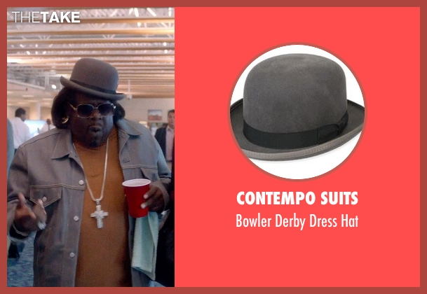 Contempo Suits gray hat from Top Five seen with Cedric The Entertainer (Jazzy Dee)
