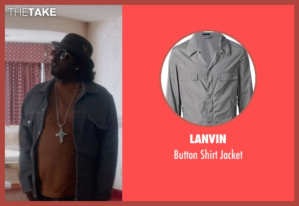 Lanvin gray jacket from Top Five seen with Cedric The Entertainer (Jazzy Dee)