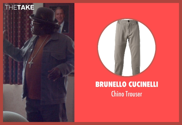 Brunello Cucinelli gray trouser from Top Five seen with Cedric The Entertainer (Jazzy Dee)