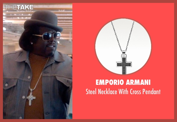 Emporio Armani silver pendant from Top Five seen with Cedric The Entertainer (Jazzy Dee)