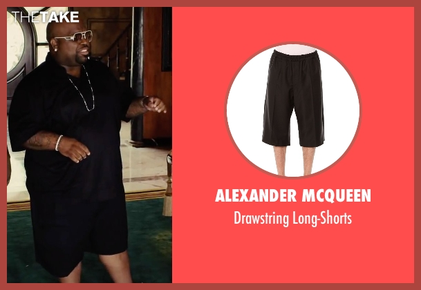 Alexander McQueen black long-shorts from Begin Again seen with CeeLo Green (Troublegum)