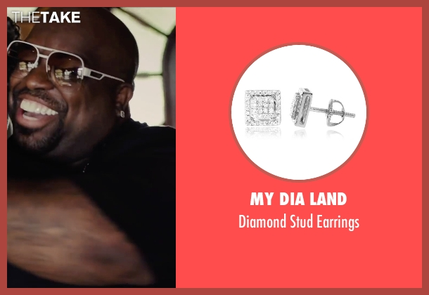 My Dia Land earrings from Begin Again seen with CeeLo Green (Troublegum)