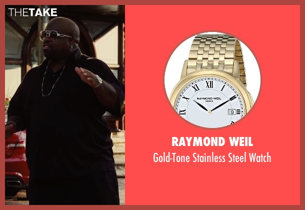Raymond Weil gold watch from Begin Again seen with CeeLo Green (Troublegum)