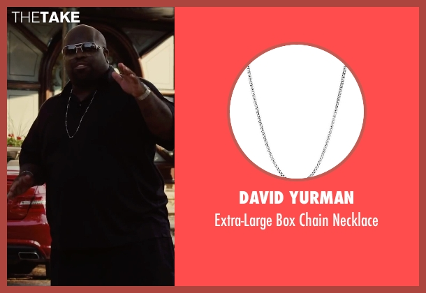 David Yurman silver necklace from Begin Again seen with CeeLo Green (Troublegum)