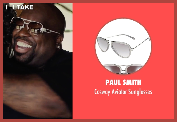 Paul Smith white sunglasses from Begin Again seen with CeeLo Green (Troublegum)