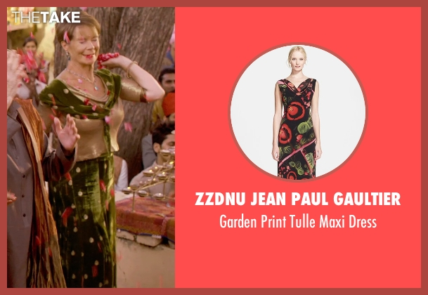 ZZDNU Jean Paul Gaultier black dress from The Second Best Exotic Marigold Hotel seen with Celia Imrie (Madge Hardcastle)