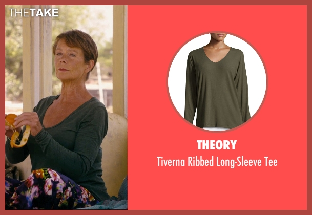Theory green tee from The Second Best Exotic Marigold Hotel seen with Celia Imrie (Madge Hardcastle)