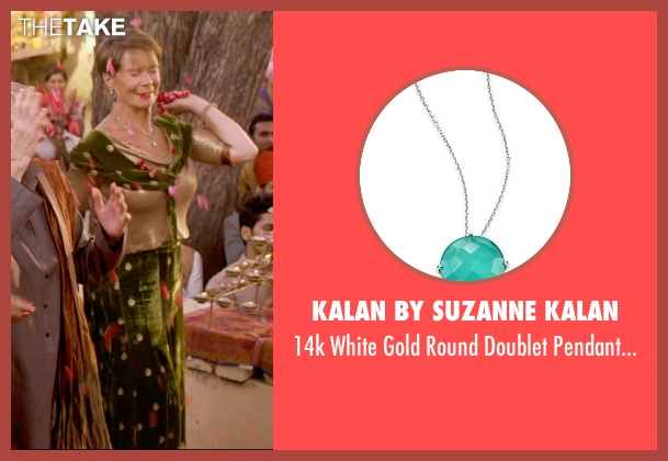 Kalan by Suzanne Kalan necklace from The Second Best Exotic Marigold Hotel seen with Celia Imrie (Madge Hardcastle)