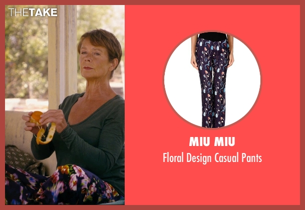 Miu Miu purple pants from The Second Best Exotic Marigold Hotel seen with Celia Imrie (Madge Hardcastle)