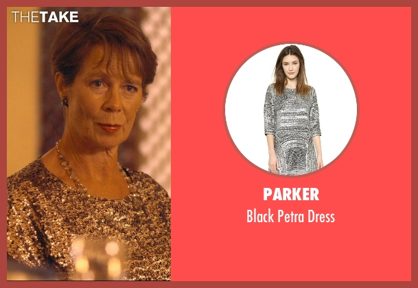 Parker silver dress from The Second Best Exotic Marigold Hotel seen with Celia Imrie (Madge Hardcastle)