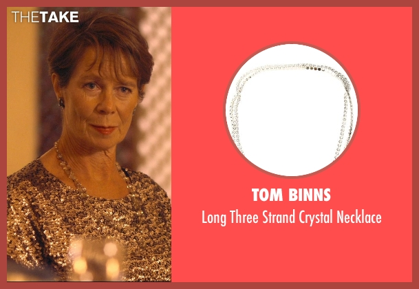 Tom Binns silver necklace from The Second Best Exotic Marigold Hotel seen with Celia Imrie (Madge Hardcastle)