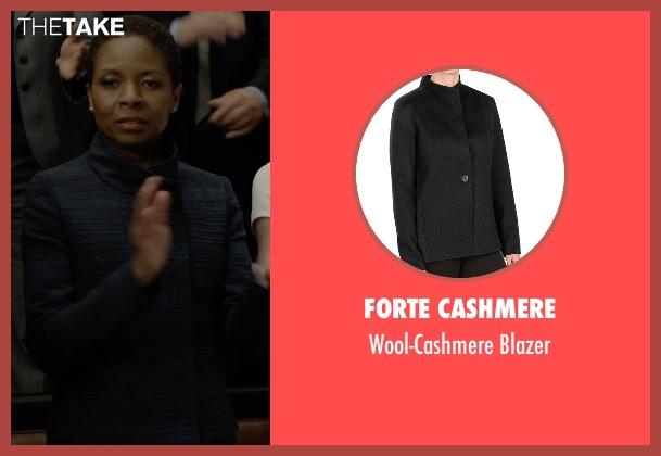 Forte Cashmere black blazer from House of Cards seen with Celia Jones (Lisa Gay Hamilton)
