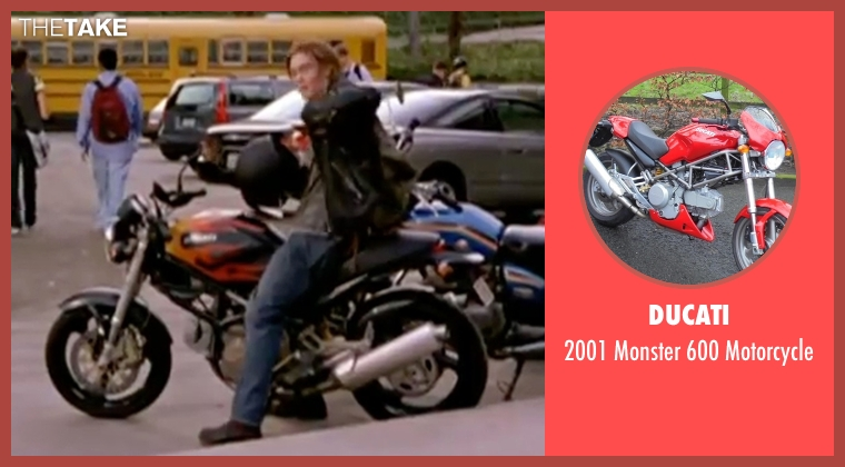 Ducati motorcycle from Freaky Friday seen with Chad Michael Murray (Jake)