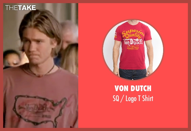 Von Dutch red shirt from Freaky Friday seen with Chad Michael Murray (Jake)