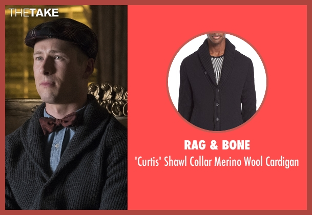 Rag & Bone black cardigan from Scream Queens seen with Chad Radwell (Glen Powell)