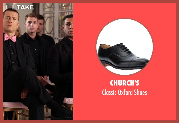 Church's black shoes from Scream Queens seen with Chad Radwell (Glen Powell)