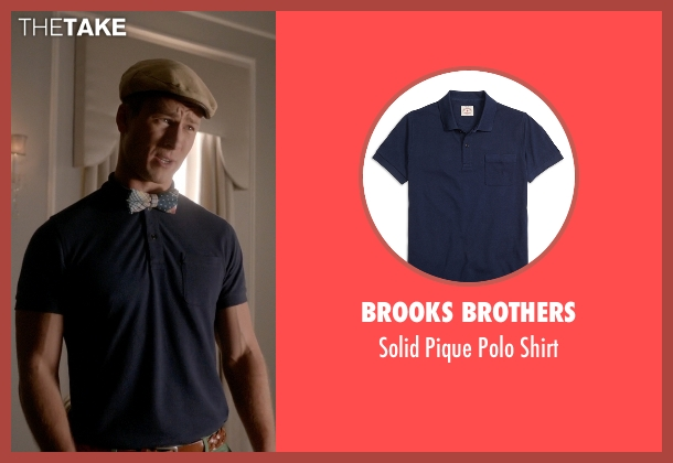 Brooks Brothers blue shirt from Scream Queens seen with Chad Radwell (Glen Powell)